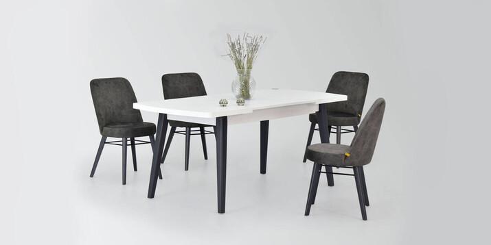 AYHANPARK KODU -10 - Asgold Sandalye Aras MDF Mutfak Masası Takımı