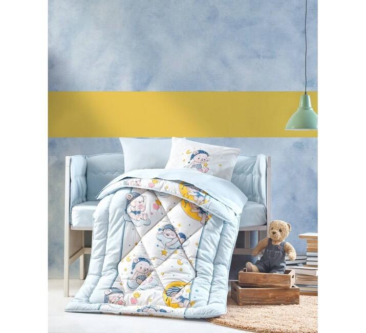 AYHANPARK KODU -21 - Bebek Uyku Seti Bear Mavi