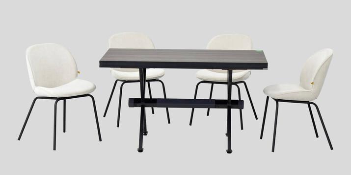 AYHANPARK KODU -10 - Big Beyaz Sandalye Aksa 80125 Antrasit Servis Masası Takımı