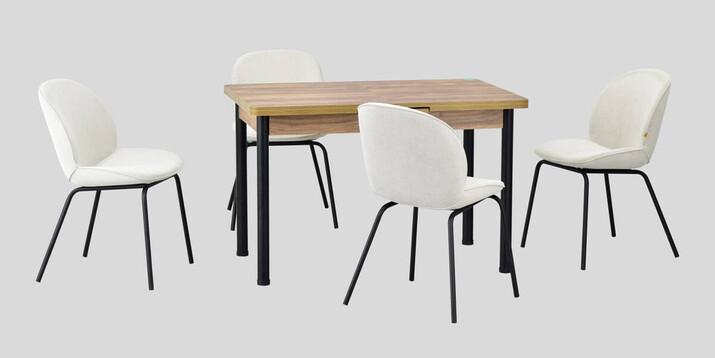 AYHANPARK KODU -10 - Big Beyaz Sandalye Elmas 80122 Mutfak Masası Takımı