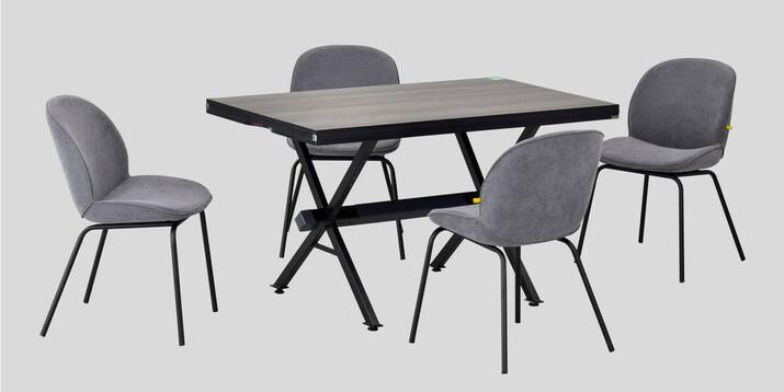 AYHANPARK KODU -10 - Big Gri Sandalye Aksa 80125 Antrasit Servis Masası Takımı