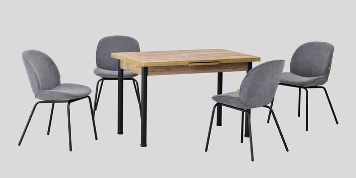 AYHANPARK KODU -10 - Big Gri Sandalye Elmas 80122 Mutfak Masası Takımı