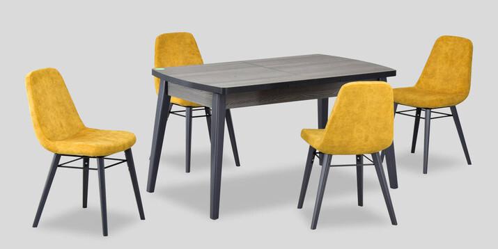 AYHANPARK KODU -10 - Dodo Sandalye Aras 81140 Antrasit Mutfak Masası Takımı