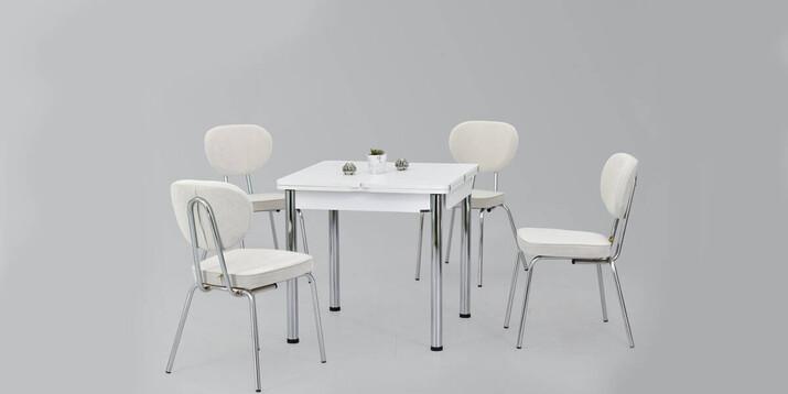 AYHANPARK KODU -10 - Ece 08080 MDF Masa Damla Sandalye Mutfak Masası Takımı