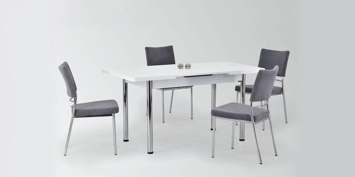 AYHANPARK KODU -10 - Ece 80122 MDF Masa İpek Sandalye Mutfak Masası Takımı