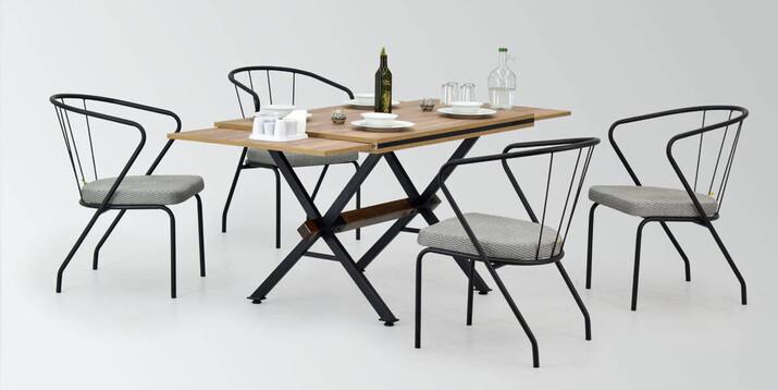 AYHANPARK KODU -10 - Pamuk Sandalye Aksa Mutfak Masası Takımı