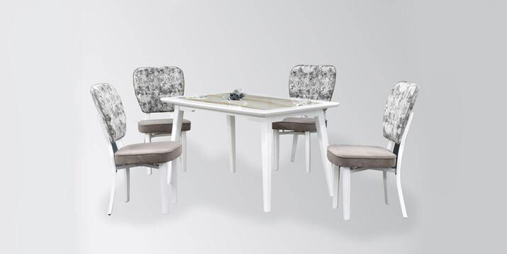 AYHANPARK KODU -10 - Tarsus Sandalye Dafne Granit Mutfak Masası Takımı