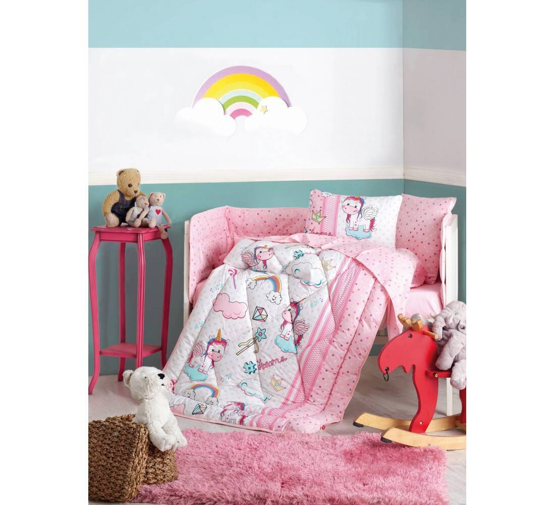 Unicorn Pembe Bebek Uyku Seti